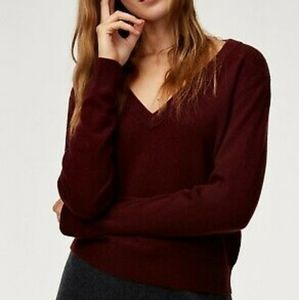 Babaton Luxe Deep V Cashmere Sweater